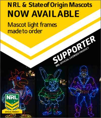 NRL Mascot Light Frames - NOW AVAILABLE!